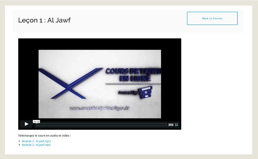 Exemple de leçon sur Al Jawf